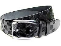 Мужской кожаный ремень LOUIS VUITTON LV (черный)