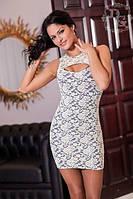 Платье Гипюровое с вырезом на груди
