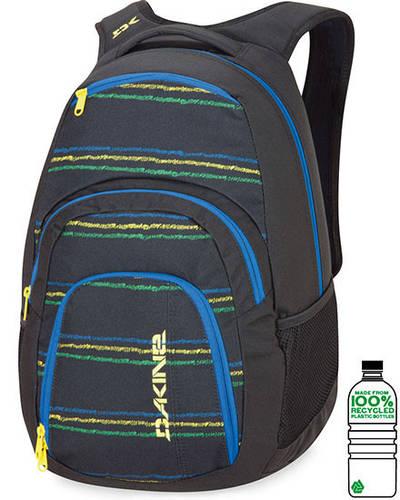 Мужской рюкзак городской в полоску Dakine Campus 33L Bandon 610934760774 черный