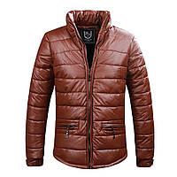 Мужская куртка из кожзама.