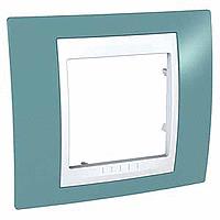 Рамка одноместная Синий Schneider Electric Unica Plus (mgu6.002.873)