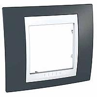 Рамка одноместная Серо-зеленый Schneider Electric Unica Plus (mgu6.002.877)