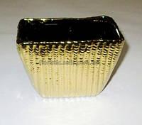 Горшок керамический золотистый