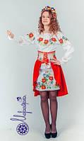 Пошитый костюм для девочки под вышивку бисером