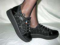 Криперсы Очень удобные кроссовки на шнурке(толстая подошва)