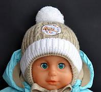 ДетскаяШапка зимняя Самолетик. Внутри мягкий плюшевый мех.