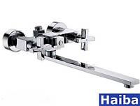 Смеситель для ванны двурукие   Haiba   Bergus- 006