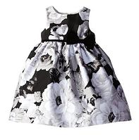 Выпускное нарядное платье с цветочным принтом 2-6 лет