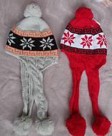 Вязанная тёплая шапочка для мальчика и девочки 1-2 года, весна, осень.