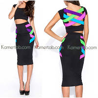 Платье Бандажное комплект (юбка+топ)