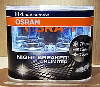 "Автомобильные галогенные лампы ""OSRAM"" (H4)(Night Breaker Unlimited)(+110%)"