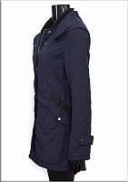 Женское стеганное пальто,полупальто женское стеганное синие