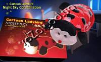 Божья коровка черепаха ночник-проектор звездного неба музыкальная cartoon ladybird night sky constellation