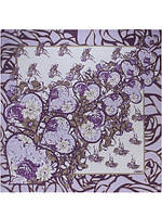 Платок женский с цветами и сердцами в 5ти цветах LBL22-254 LABBRA