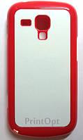 Чехол 2D для Samsung Galaxy Trend Duos S7562  Красный