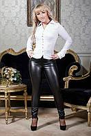 Модные женские легинсы из еко кожи на флисе 740