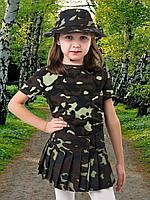 Юбка камуфляж от 4 до 12 лет