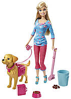Кукла Барби с собачкой - уход за питомцем