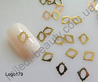 Логотипы - Оправа для жидких камней (ромб) 7*8мм, золото, Logo-179