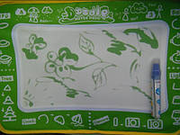 Коврик для рисования водой (3 вида - цвета) HX 110 A-B-С, в кульке, 30-53см