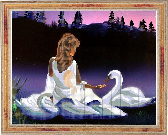 ПВ-123/2 Девушка и лебеди