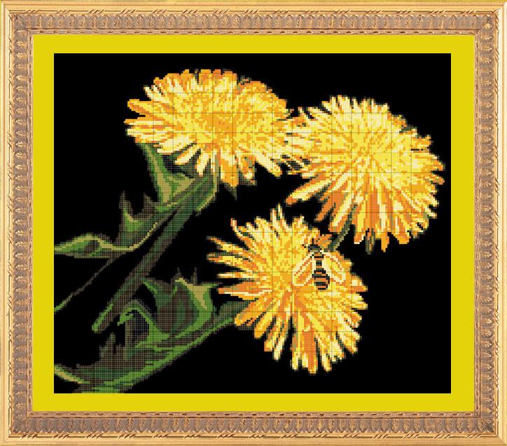 пчела (схема для вышивания