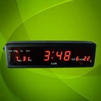 Настенно-настольные часы 808-1 LED-дисплей,  яркое красное свечение