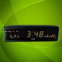 Настенно-настольные часы 808-1 LED-дисплей,  яркое зеленое свечение