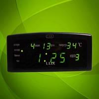 Настенно-настольные часы 868-2 LED-дисплей,  яркое зеленое свечение