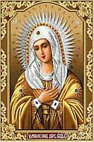Алмазная вышивка камнями Икона Божией Матери «Умиление»