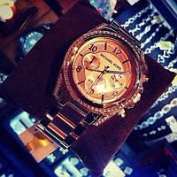 Женские наручные часы с камнями Michael Kors Майк Корс
