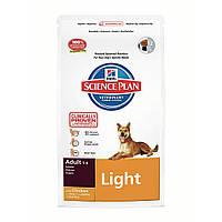 Hills Science Plan Adult Light сухой корм для собак облегченный