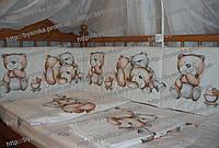 Бортики защитные в кроватку новорожденного