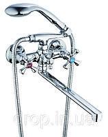 Смеситель для ванной двухзахватный Zerix T63-D4Q-A827
