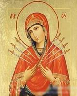 """Набор алмазной вышивки """"Семистрельная св. икона Божией Матери"""""""