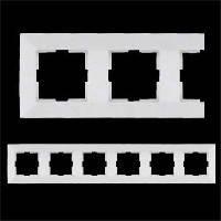 VIKO Рамка шестерная горизонтальная Meridian, белый (90979006)