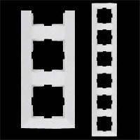 VIKO Рамка шестерная горизонтальная Meridian, белый (90979026)