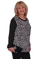 Красивая женская кофта с леопардовым принтом