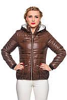 Шоколадная женская куртка. Весна-осень