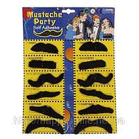 Все для карнавала — Накладные усы для вечеринок (mustache party), фото 1