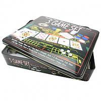 Казино — набор игр 5 в 1: рулетка, покер, блэкджек, кости, покер с игральными костями (5 Games Set), фото 1