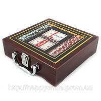 Покерный набор в дереве, оригинальный подарок другу, фото 1
