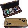 Подарок начальнику покерный набор на 100 фишек в деревянном сундучке
