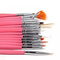 Кисти для вечернего и арт-макияжа, 15 шт. в наборе, надёжные держатели, высокое качество, для профессионалов