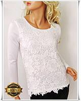Белая гипюровая рубашка, модная блуза