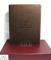 Мужской кожаный кошелёк коричневого цвета из нубука Always Wild