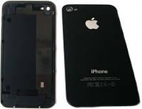 Задняя крышка IPhone 4GS чёрная ААА стекло