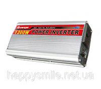 Инвертор, преобразователь, инвертор напряжения 12/220V - 1200W, фото 1