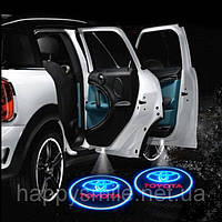 Светодиодная подсветка на двери с логотипом автомобиля , фото 1