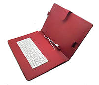 Чехол с клавиатурой для планшета 10 дюймов Красный (микро USB)!